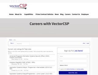 vectorcsp.applicantpro.com screenshot