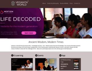 vedantaworld.org screenshot