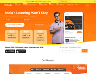 vedantu.in screenshot