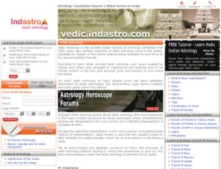 vedic.indastro.com screenshot
