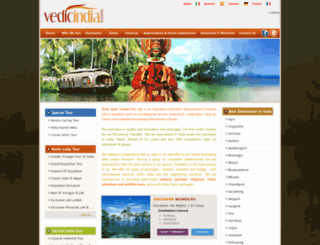 vedicindiatravels.com screenshot