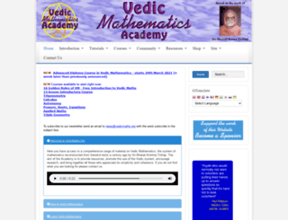 vedicmaths.org screenshot