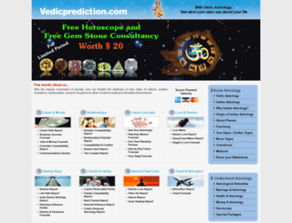 vedicprediction.com screenshot
