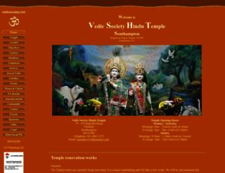 vedicsociety.com screenshot