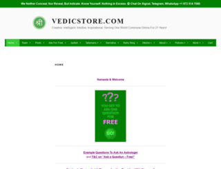 vedicstore.com screenshot