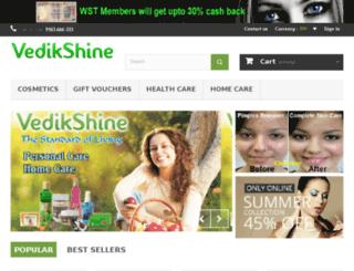 vedikshine.com screenshot