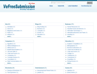 vefreesubmission.in screenshot