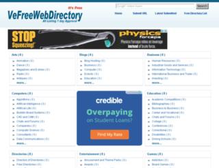 vefreewebdirectory.in screenshot