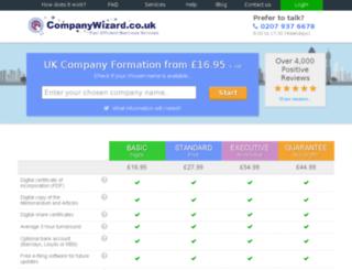 vega.company-wizard.co.uk screenshot