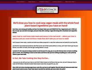 vegancoach.com screenshot