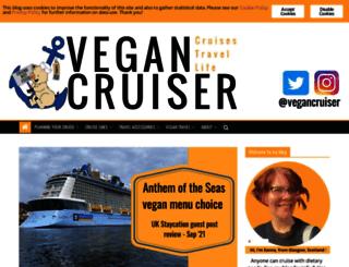 vegancruiser.co.uk screenshot
