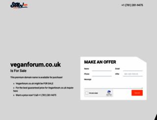 veganforum.co.uk screenshot