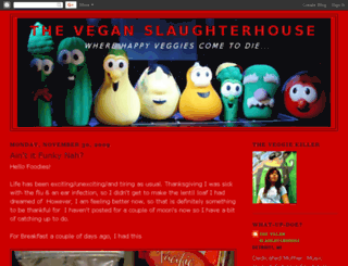 veganslaughterhouse.blogspot.com screenshot