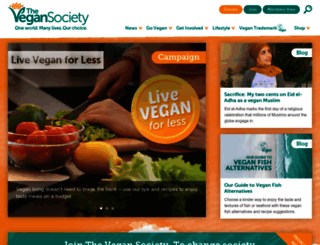 vegansociety.com screenshot