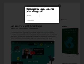 veganstrategist.org screenshot