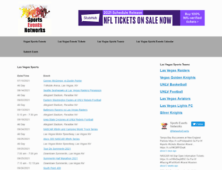 vegassportsevents.com screenshot