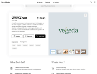 vegeda.com screenshot