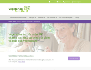 vegetarianforlife.org.uk screenshot