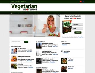 vegetarianspotlight.com screenshot