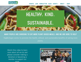 vegmichigan.org screenshot