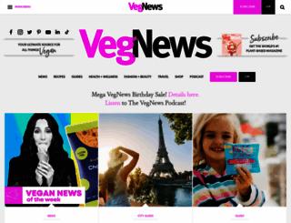 vegnews.com screenshot