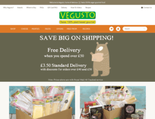 vegusto.co.uk screenshot