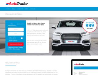 vehiclecheck.co.za screenshot