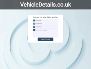 vehicledetails.co.uk screenshot