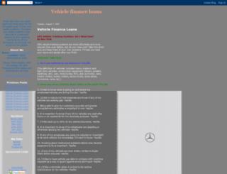 vehiclefinanceloans2.blogspot.com screenshot