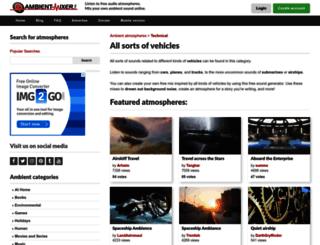 vehicles.ambient-mixer.com screenshot