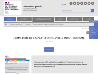 veilleinfotourisme.fr screenshot