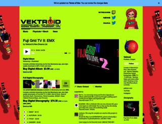 vektroid.bandcamp.com screenshot