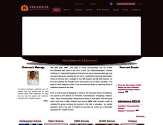 velammaltrust.com screenshot