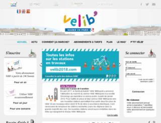 velib.fr screenshot