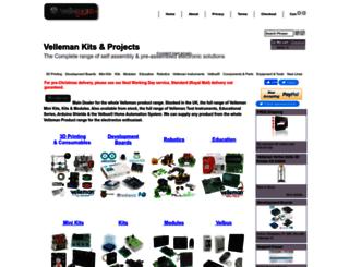 velleman.co.uk screenshot