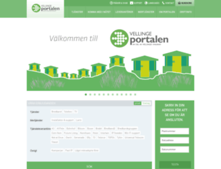 vellingeportalen.se screenshot