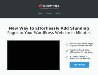 velocitypage.com screenshot