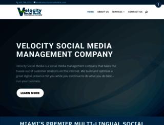 velocitysocialmedia.com screenshot