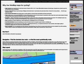 velomap.org screenshot