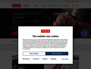 velux.ch screenshot