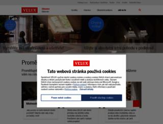 velux.cz screenshot