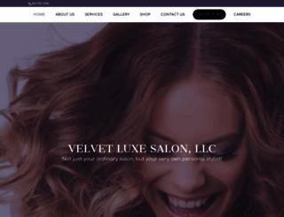 velvetluxesalon.com screenshot