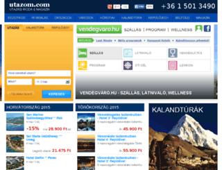 vendegvaro.utazom.com screenshot