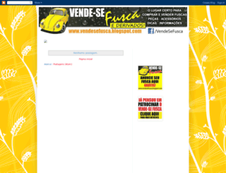 vendesefusca.blogspot.com.br screenshot