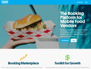vendor.roaminghunger.com screenshot