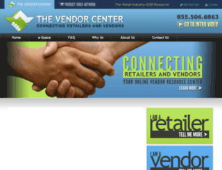 vendorcenteronline.com screenshot