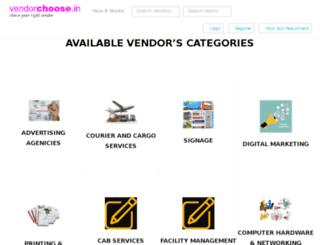 vendorchoose.in screenshot