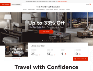venetian.com screenshot