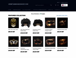 venetianmasksshop.com screenshot