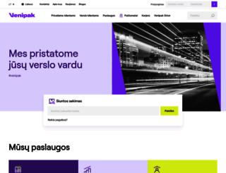 venipak.lt screenshot